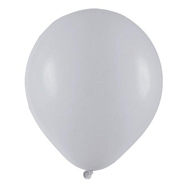 Balão de Festa Redondo Profissional Látex Liso - Cinza - Art-Latex - Rizzo Balões
