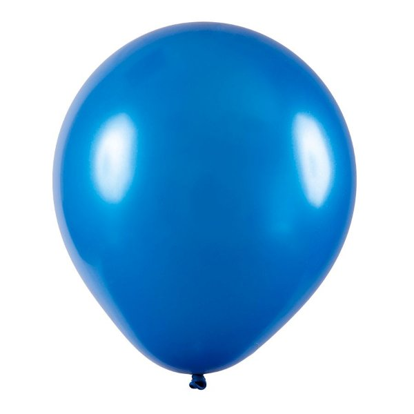 Balão de Festa Redondo Profissional Látex Metal - Azul - Art-Latex - Rizzo Embalagens
