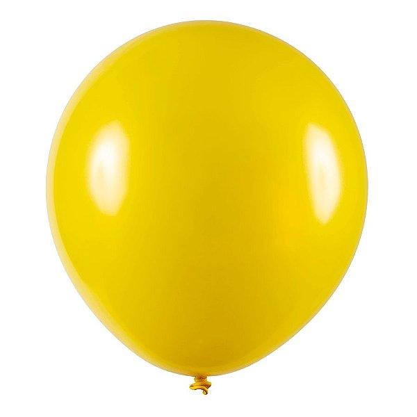 Balão de Festa Redondo Profissional Látex Metal - Amarelo - Art-Latex - Rizzo Balões