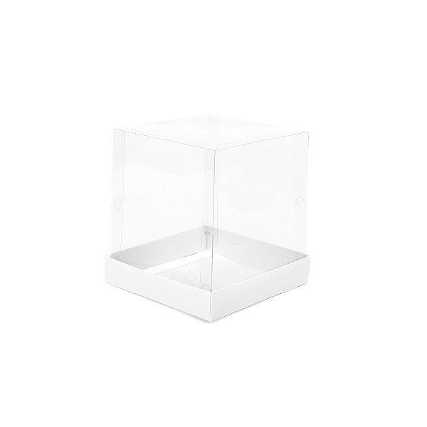 Caixa Mini Bolo - Branca - 15x15x16cm - 10 unidades - Cromus - Rizzo Embalagens