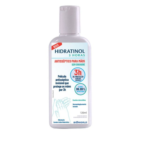 Bioworld Hidratinol 3H Gel Antisséptico Hidratante Para as Mãos 120ml