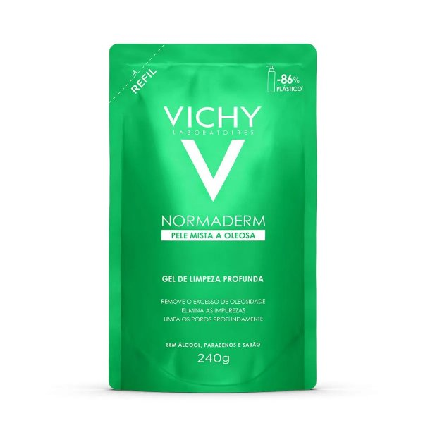 Vichy Normaderm Refil Gel de Limpeza Profunda 240g