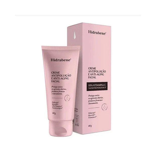Hidrabene Creme Antipoluição e Anti-aging Facial 60g