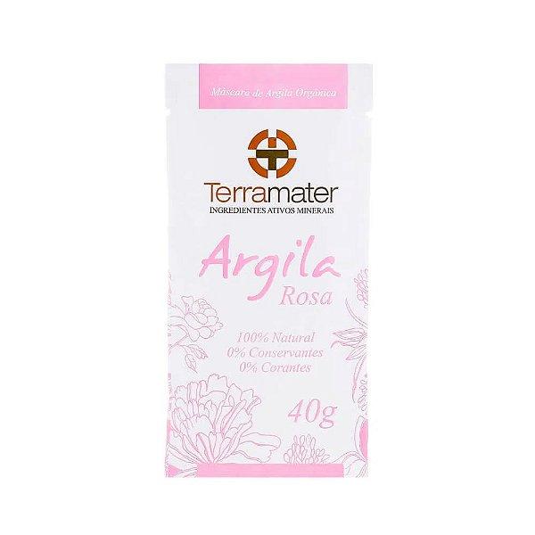 Terramater Máscara de Argila Rosa Orgânica 40g