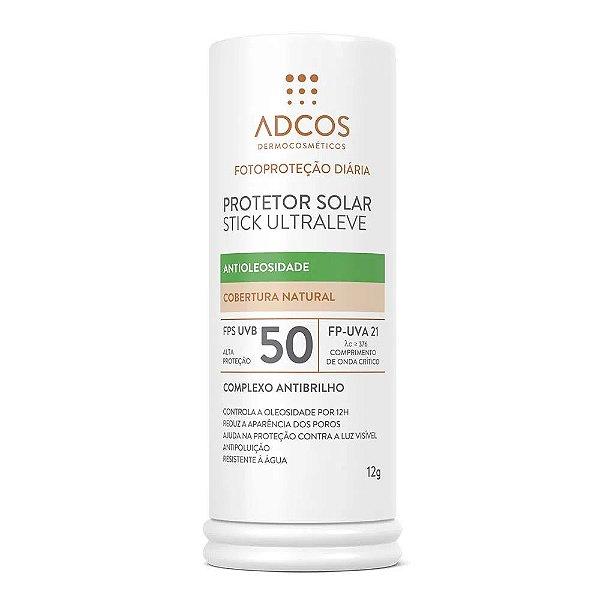 Adcos Protetor Solar Stick Ultraleve Antioleosidade FPS 50 Beige 12g