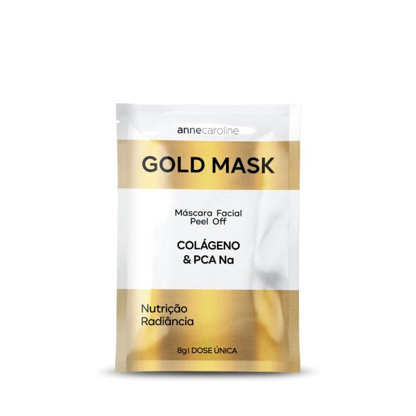 Anne Caroline Gold Mask Máscara FacialPeel Off Colágeno 8g