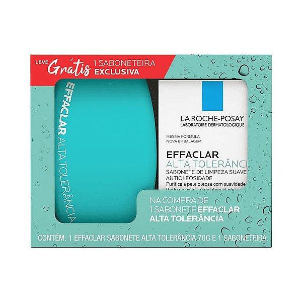 Kit Vichy Sabonete Facial Effaclar Alta Tolerância 70g + Saboneteira Grátis