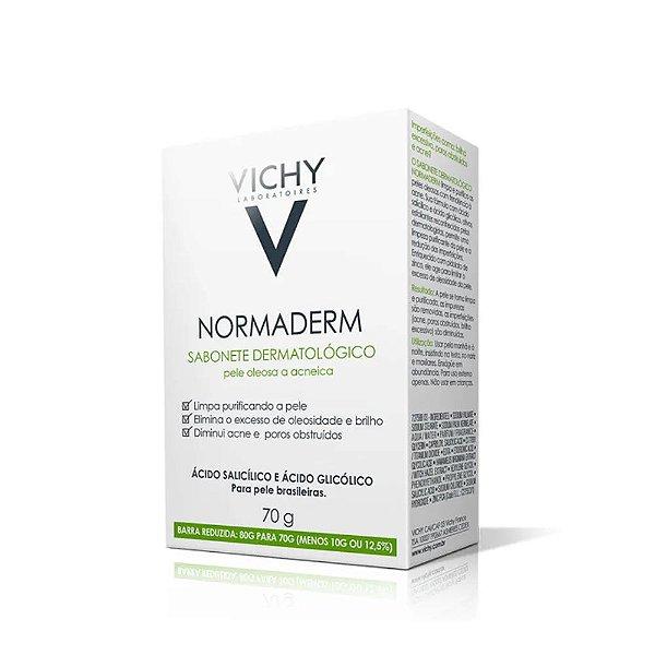 Vichy Normaderm Sabonete Dermatológico de Limpeza Profunda 70g