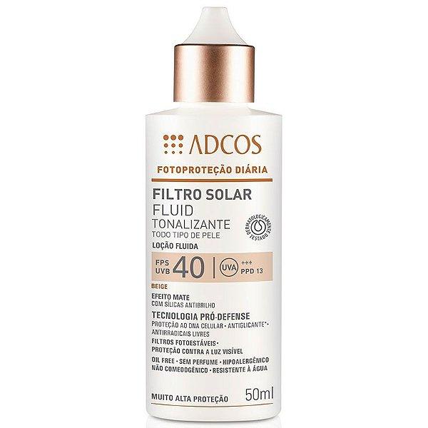 Adcos Filtro Solar Fluid Tonalizante FPS40 Beige 50ml