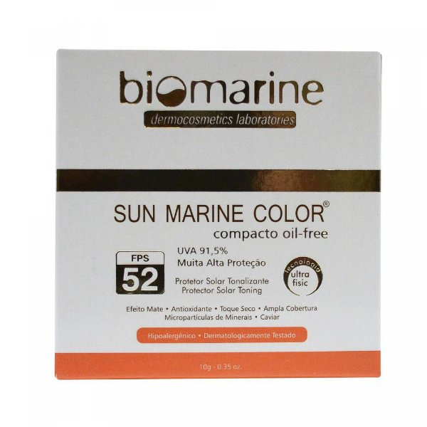 Biomarine Sun Marine Color Compacto FPS52 Natural 10g