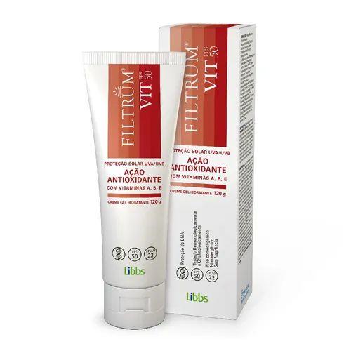 Libbs Filtrum Vit Protetor Solar FPS50 Ação Antioxidante 120g