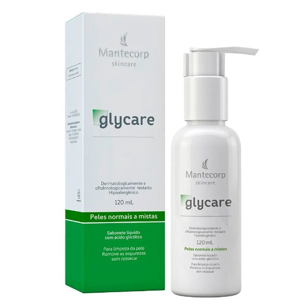 Mantecorp Glycare Sabonete Líquido Facial c/ Ácido Glicólico 120ml