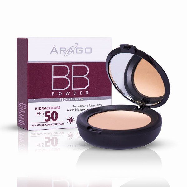 Arago Bb Powder Hidracolors FPS50 Bege 12g