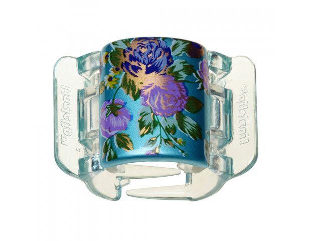 Linziclip Bloom Flower Pearlised Sea Blue Bloom 9cmX7cmX4cm