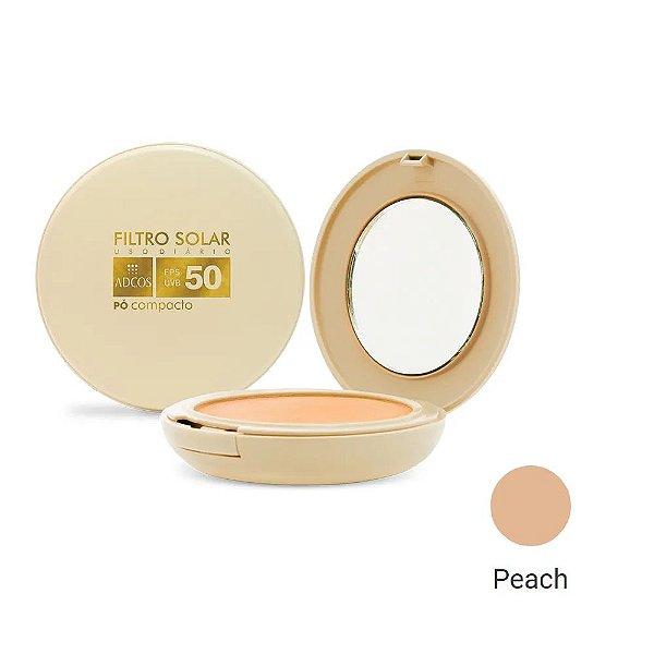 Adcos Filtro Solar Tonalizante  FPS50 pó compacto 11g Peach
