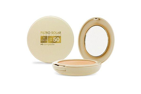 Adcos Filtro Solar Tonalizante  FPS50 pó compacto 11g Bronze