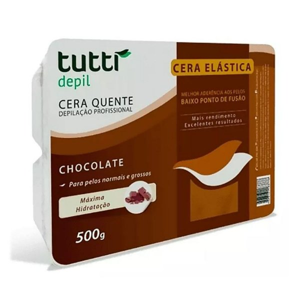Tutti Depil Cera Depilatória A Quente Chocolate 500g