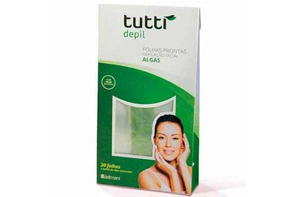 Tutti Depil Folhas Prontas Depilação Facial Algas 20 Folhas