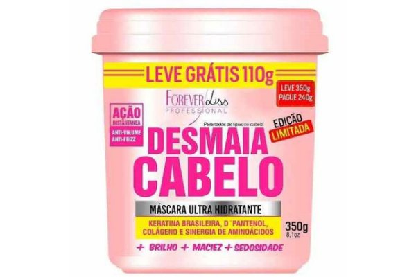 Forever Liss Desmaia Cabelo 240g Leve Grátis 110g