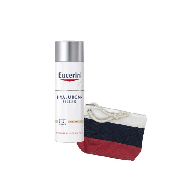 Eucerin Hyaluron filler CC Cream Claro FPS15 50ml + GANHE Necéssaire da marca