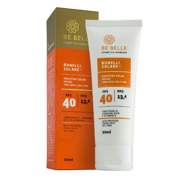 Be Belle Protetor Solar Facial  Bonelli Solare FPS40 50ml