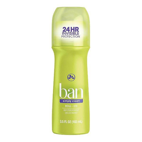 Ban Desodorante Roll On Simply Clean 103ml