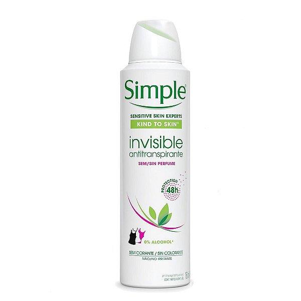 Simple Desodorante Aerosol Invisible 150ml