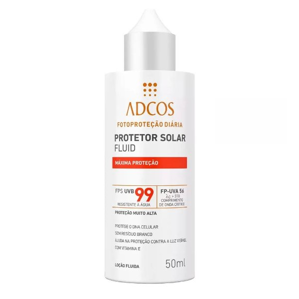 Adcos Filtro Solar Fluid  Fps99 Incolor 50ml
