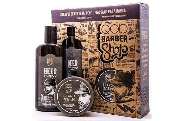 QOD Kit Shampoo Beer E Beard Balm 240ml