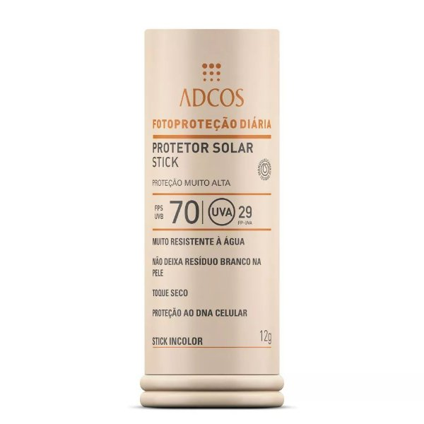 Adcos Filtro Solar Base Stick Fps 70 Incolor