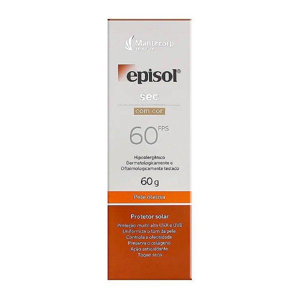 Mantecorp Episol Protetor Solar Sec Com Cor FPS60 60g