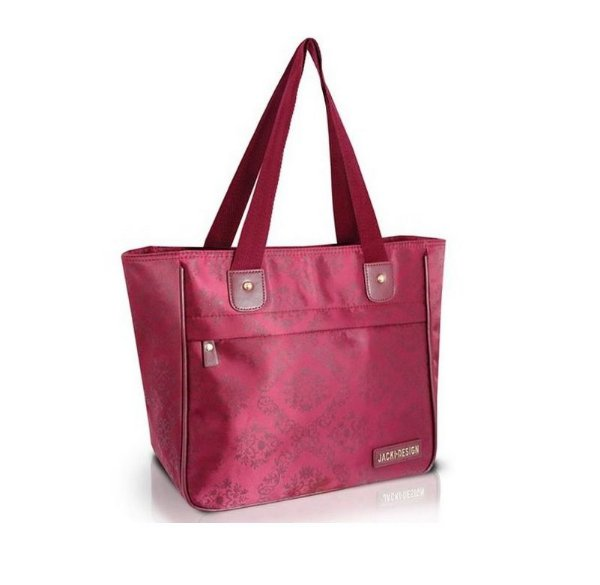 Jacki Design Bolsa Shopper Damasco Cor Vinho