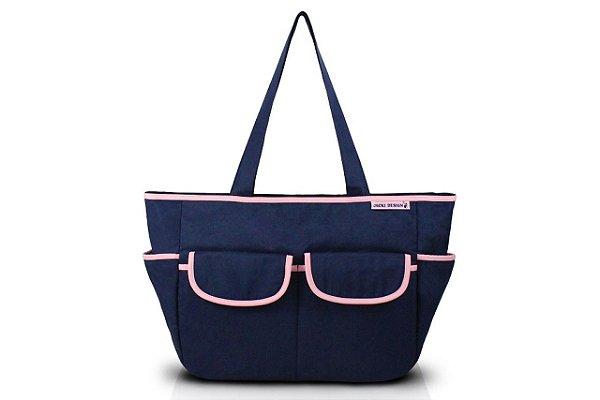 Jacki Design Bolsa de Bebê Lisa Cor Azul e Pink