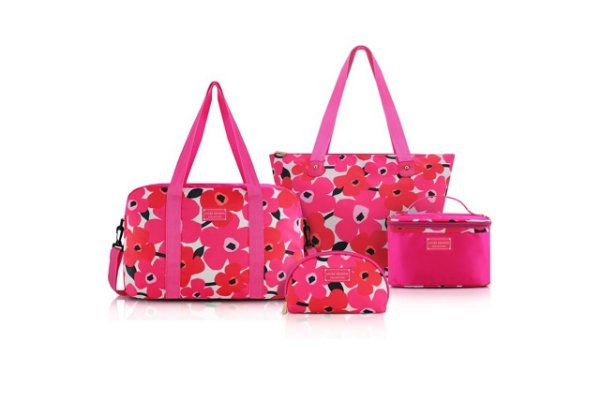 Jacki Design Conjunto de Bolsa de 4 Pçs Cor Pink