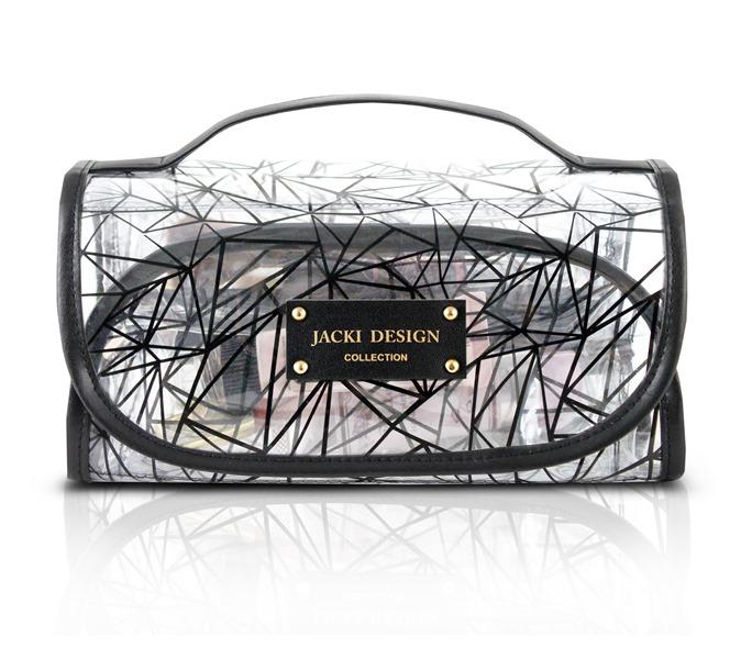 Jacki Design Necessaire Rocambole Transparente Cor Preto