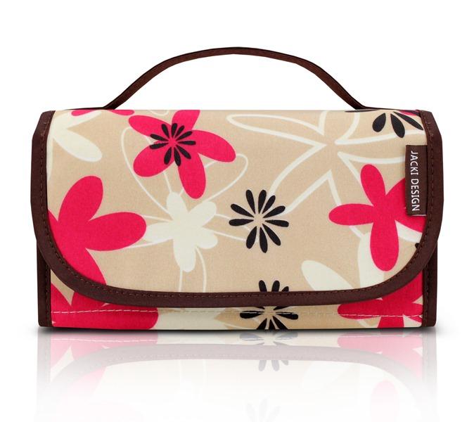 Jacki Design Necessaire Rocambole Estampada Marrom E Floral