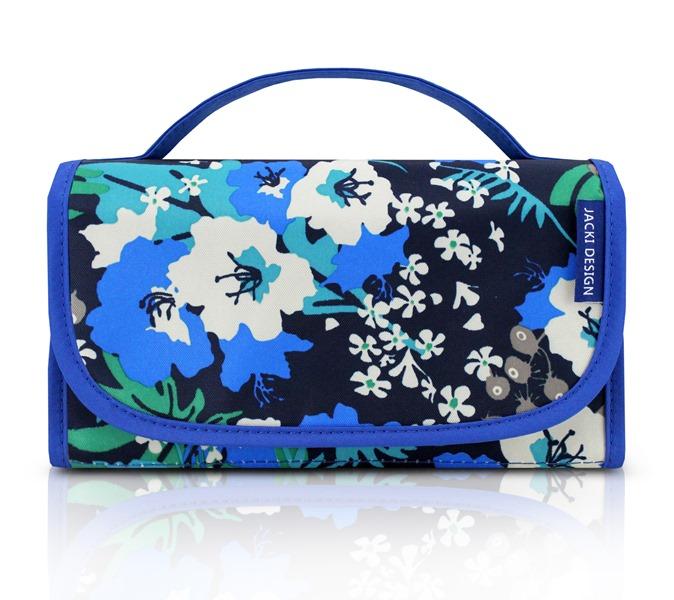 Jacki Design Necessaire Rocambole Estampada Cor Azul Floral