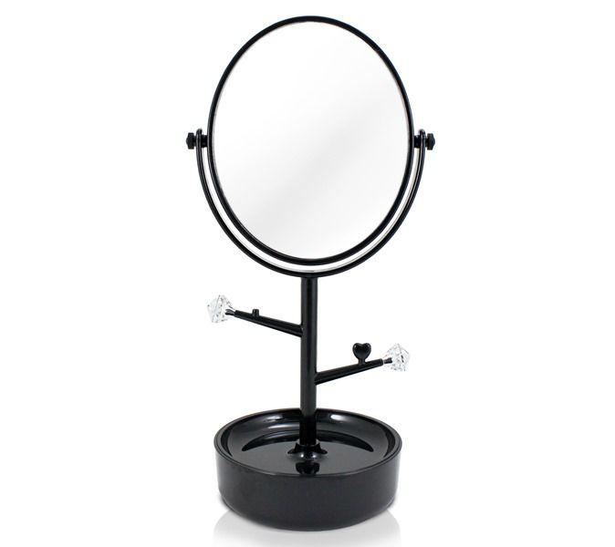 Jacki Design Espelho Com Compartimento Para Jóias Cor Preto