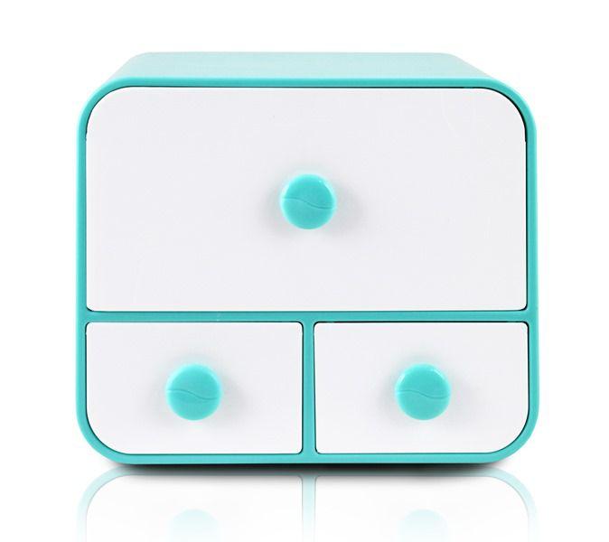 Jacki Design Caixa Organizadora Com 3 Gavetas Tam G Cor Azul