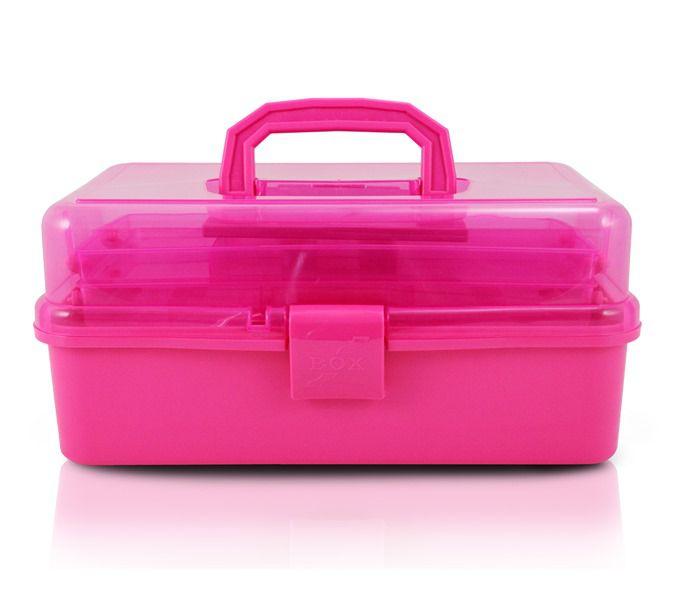 Jacki Design Caixa Organizadora Transparente Cor Pink