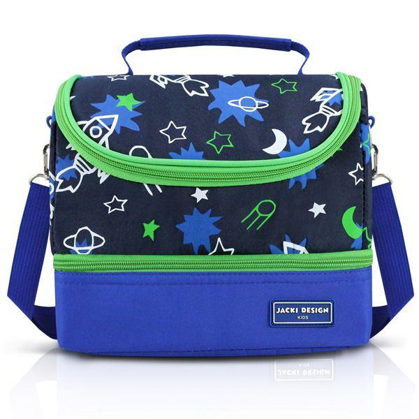 Jacki Design Lancheira Térmica 2 Compartimentos Foguete Azul