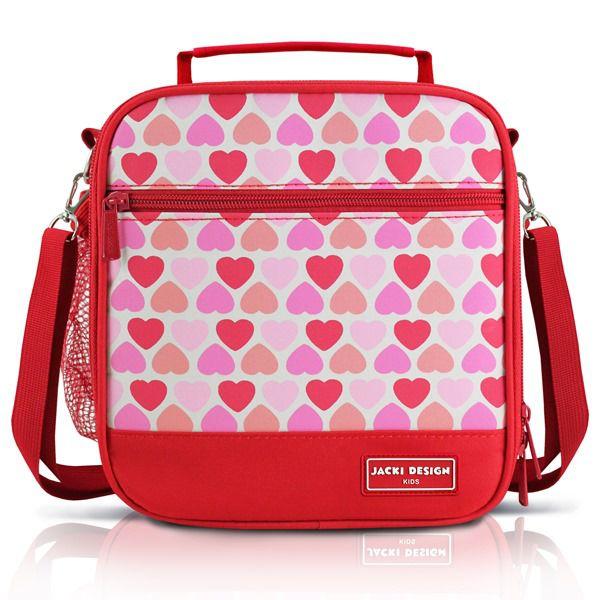 Jacki Design Lancheira Térmica Coração Vermelho Cor Vermelho