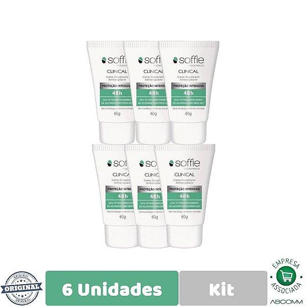 Soffie Kit com 6 Clinical Desodorante Antitraspirante 60g
