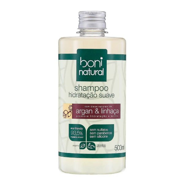 Boni Natural Shampoo Argan e Linhaça 500ml