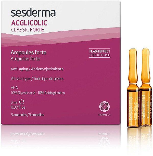 Sesderma Acglicolic Classic Forte Hidratante Com 5 Ampolas 2ml
