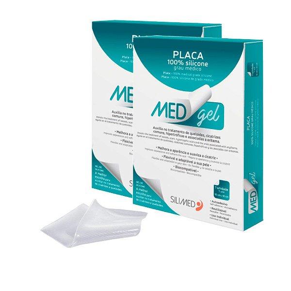 Medgel Kit com 2 Silimed Placa de Silicone com 1 unidade