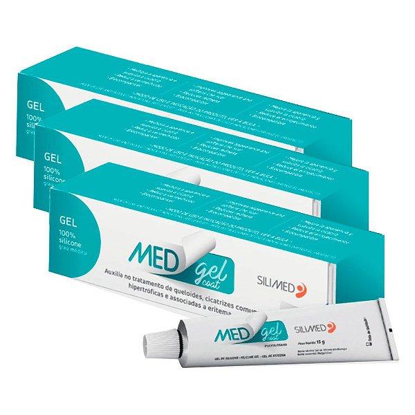 Medgel Kit com 3 Coat Silimed Gel de Silicone 15g
