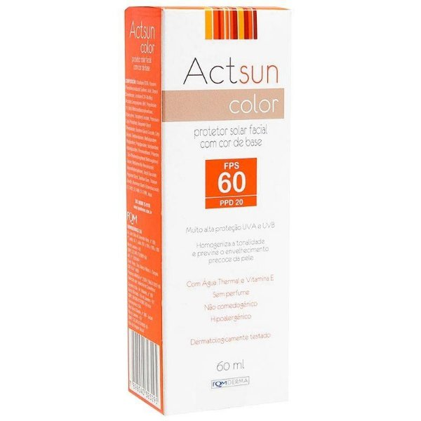 Actsun Color Protetor Solar Facial Fps60 60ml
