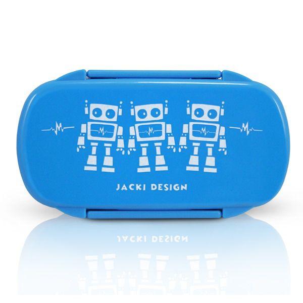 Jacki Design Pote Para Lanche Robô Cor Azul Claro