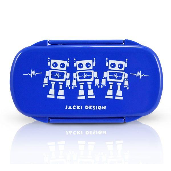 Jacki Design Pote Para Lanche Robô Cor Azul Escuro